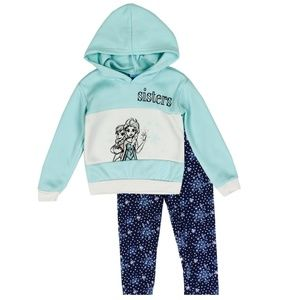 🎁🌴Mint Frozen Toddler Girls 2PC Fleece Set